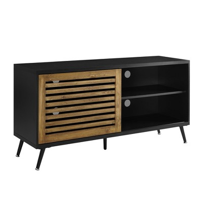 "Modern Sliding Slat Door Console TV Stand for TVs up to 58"" - Saracina Home"