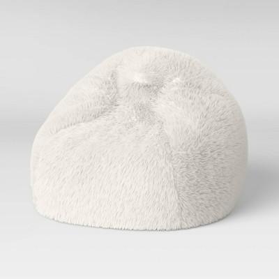Long Fur Bean Bag Cream - Pillowfort™