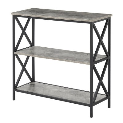 Tucson 3 Tier Bookcase Faux Birch White - Johar Furniture