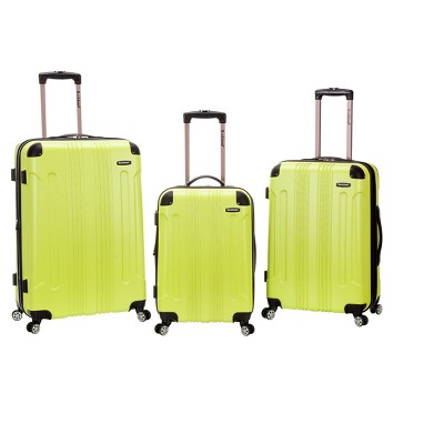 Rockland 3pc ABS Luggage Set - Lime