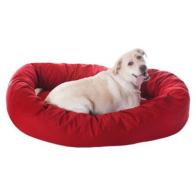 Majestic Pet Sherpa Bagel Dog Bed - Red - XL - 52''
