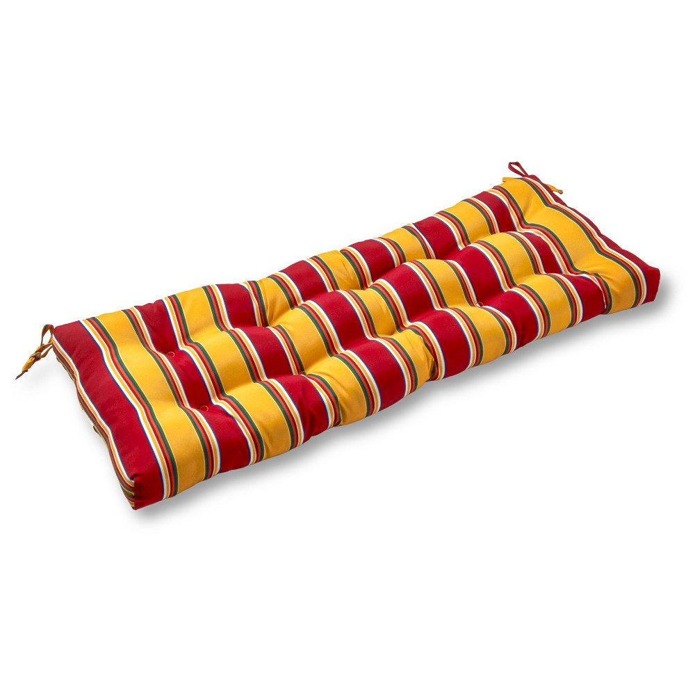 Image of Carnival Stripe Outdoor Swing and Bench Cushion - Greendale Home Fashions
