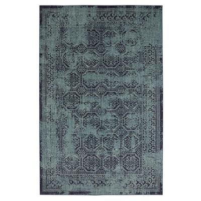 7'X10' Overdyed Area Rug Turquoise - Threshold™