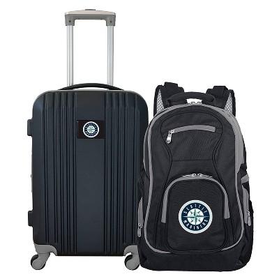 MLB Seattle Mariners 2 Pc Carry On Luggage Set