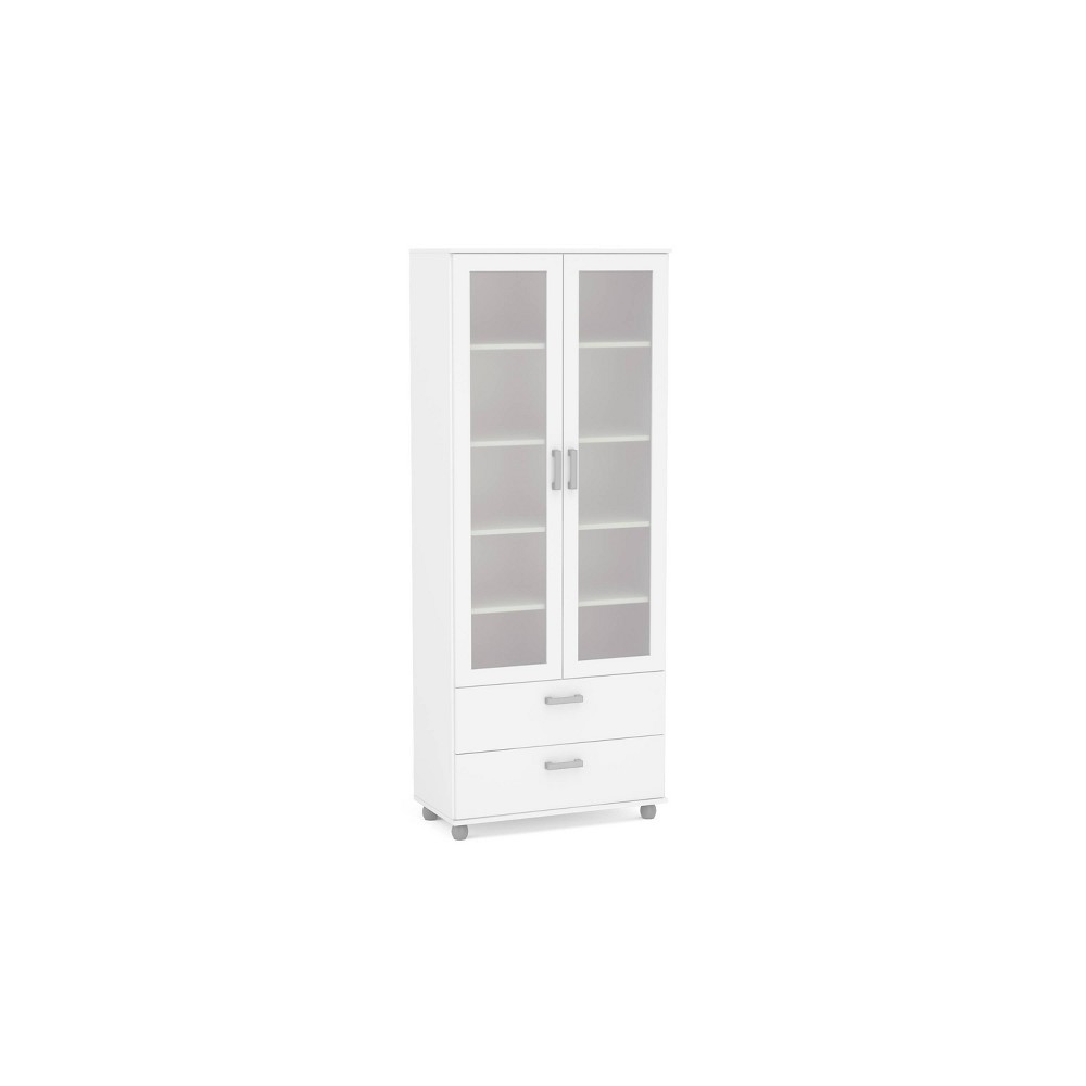 Image of Quebec 2 Door Bookcase White - Chique
