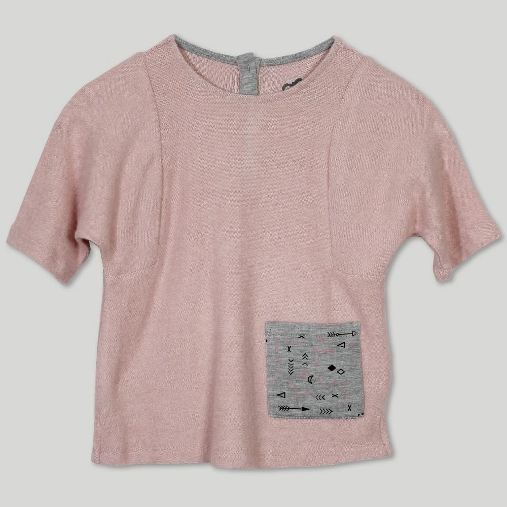 Afton Street Toddler Girls' Hacci Short Sleeve T-Shirt - Pink 2T