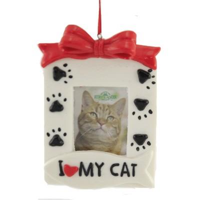 "Holiday Ornament 5.0"" Family Pet Photo Frame Dog House Bone  -  Tree Ornaments"