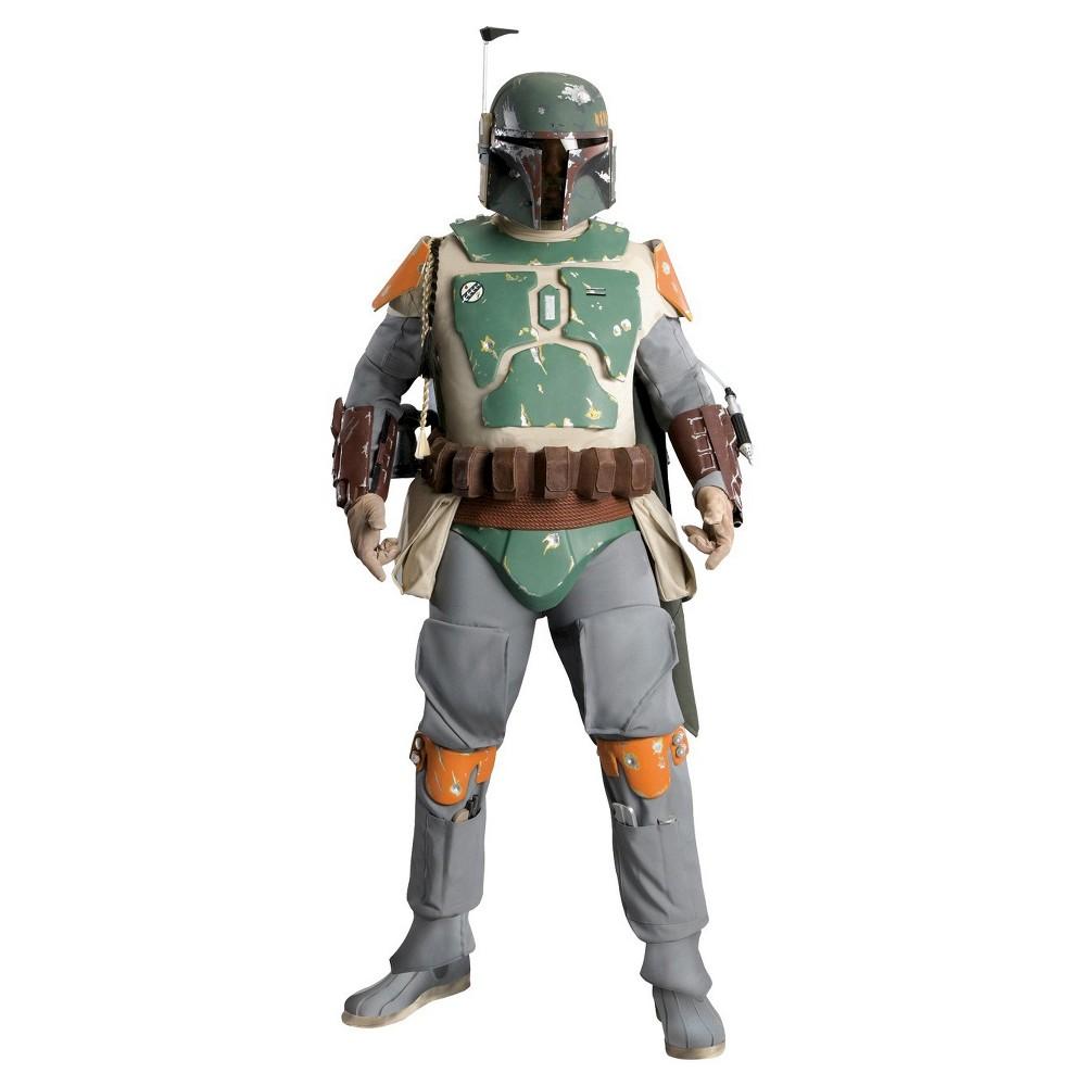 Star Wars Men's Boba Fett Supreme Costume One Size, Multicolored