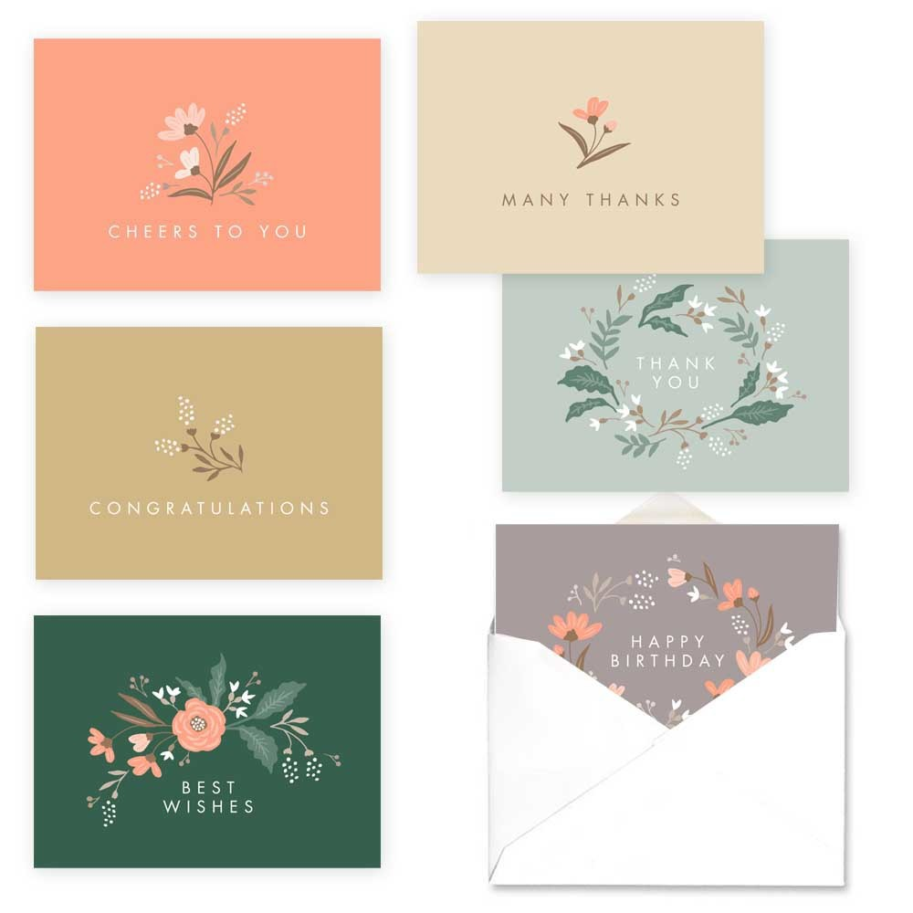 Image of 36ct Beautiful Blooms Assortment Card Packs