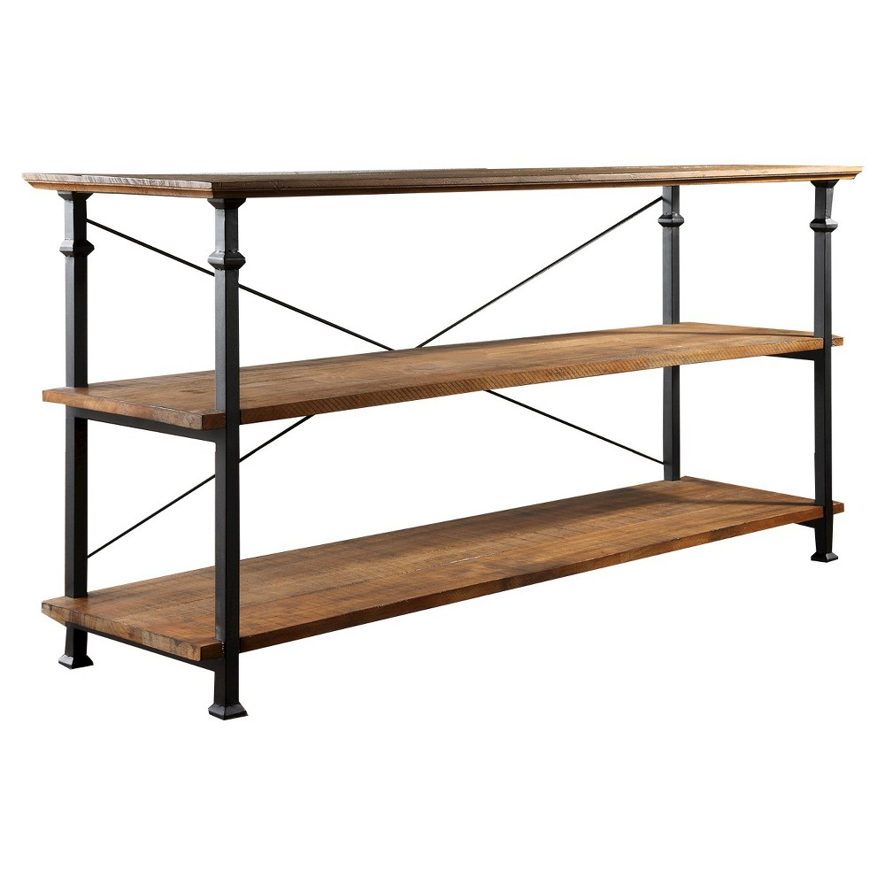 Ronay Rustic Industrial TV Stand - Inspire Q, Red