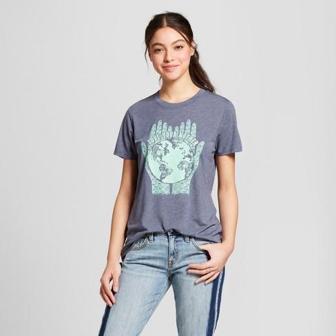 7e9acb47c0da07 Women s In Your Hands Short Sleeve Crew Neck T-shirt - Modern Lux  (Juniors ) - Navy
