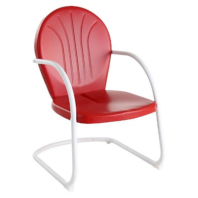 Metal Patio Arm Chair - Red