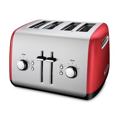 KitchenAid Refurbished 4 Slice Toaster Empire Red - RKMT4115ER