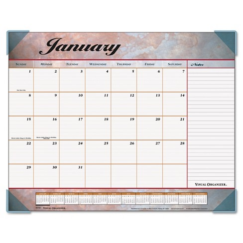 2018 AT-A-GLANCE Marbled Desk Pad 22 x 17 - image 1 of 1