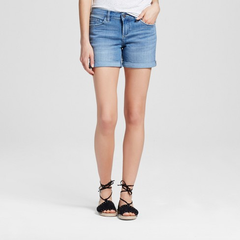 "Women's Mid Rise 5"" Roll Cuff Jean Shorts - Crafted by Lee® - image 1 of 2"
