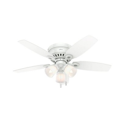 "46"" Hatherton Low Profile Ceiling Fan White (Includes Energy Efficient Light) - Hunter"