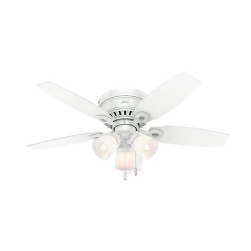 46 Hatherton Low Profile Ceiling Fan White Includes Energy Efficient Light Hunter Target