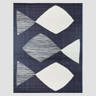 5' x 7' Mod Fish Outdoor Rug Navy - Project 62™