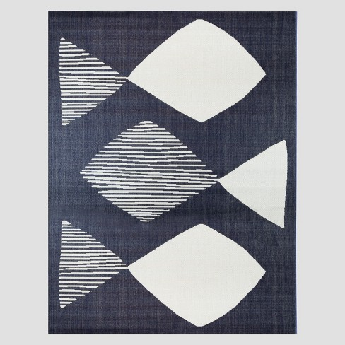 Mod Fish Outdoor Rug Navy - Project 62™ - image 1 of 4