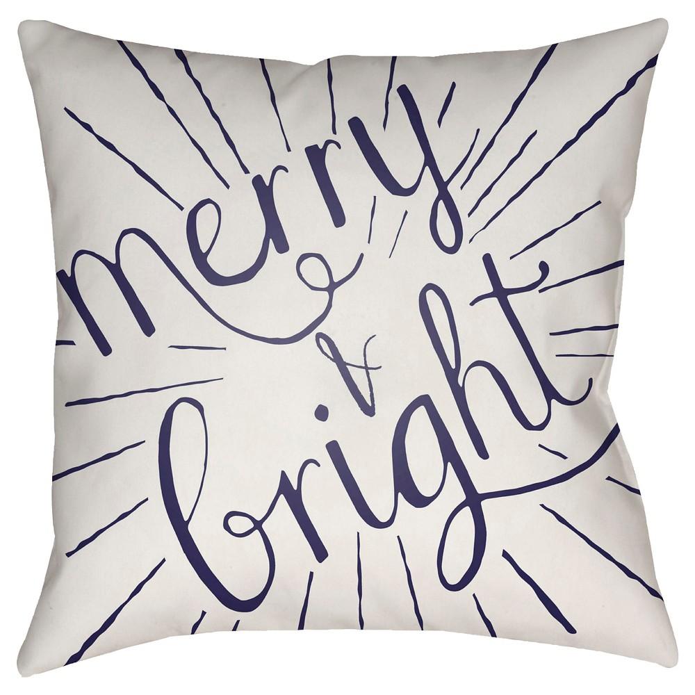 White Merry & Bright Throw Pillow 18