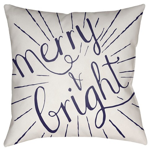 Merry & Bright Throw Pillow - Surya - image 1 of 1