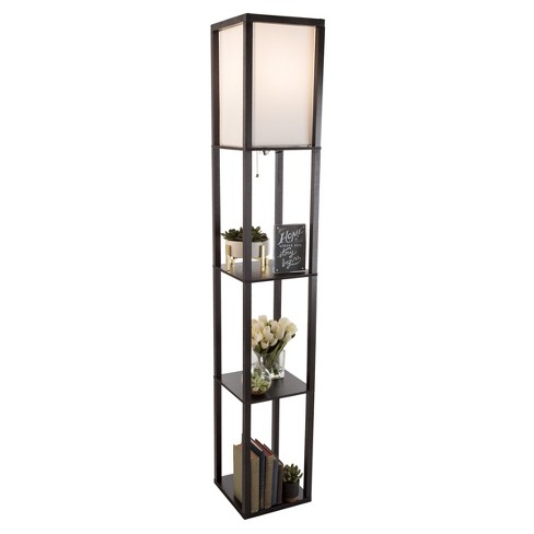 Torchiere Floor lamp Black (Includes Energy Efficient Light Bulb) - Lavish Home - image 1 of 7