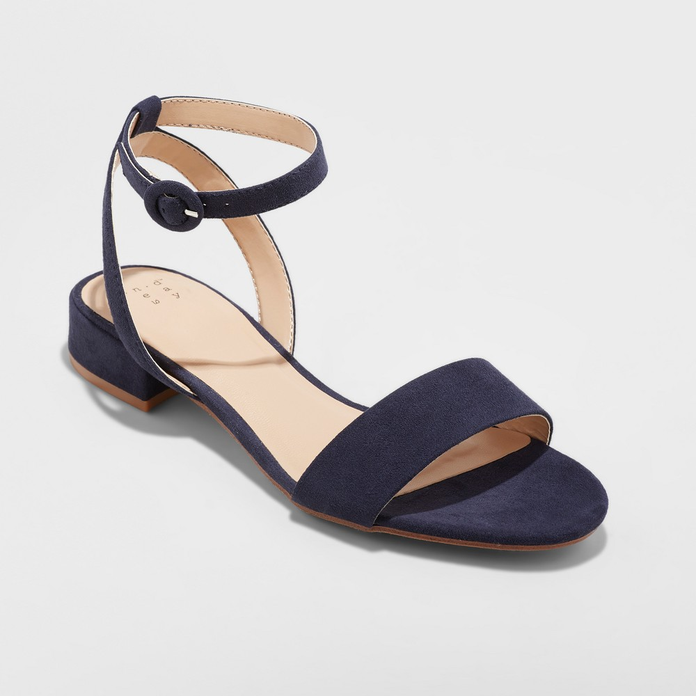 Women's Winona Ankle Strap Sandal - A New Day Navy (Blue) 8