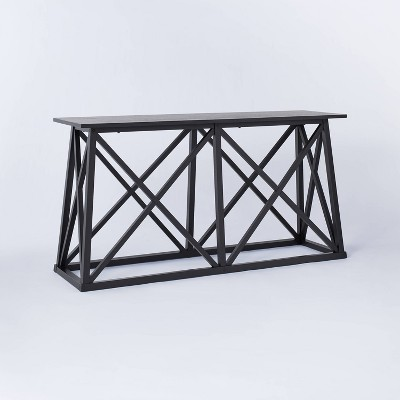 Copperton Wood X Base Console Table Black - Threshold™ designed with Studio McGee