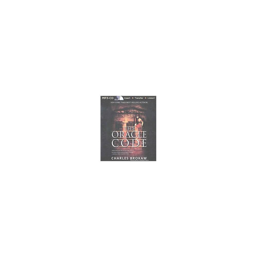 Oracle Code (Unabridged) (MP3-CD) (Charles Brokaw)