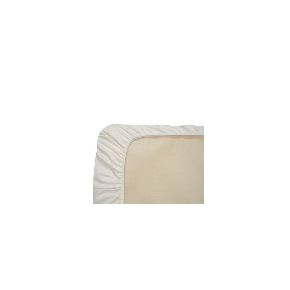 Image of Naturepedic Organic Cotton Fitted Crib Sheet - White