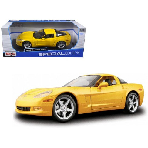 2005 Chevrolet Corvette C6 Coupe Yellow 1/18 Diecast Model Car by Maisto - image 1 of 1