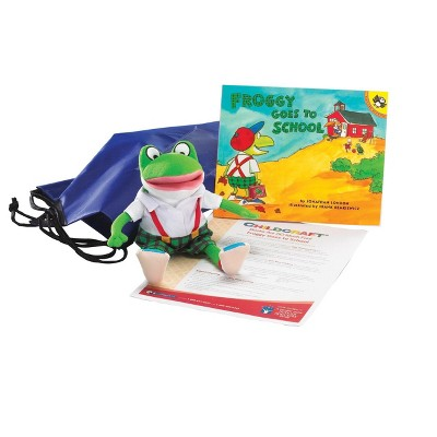 Childcraft Froggy Goes to School Literacy Bag, Book, and Plush