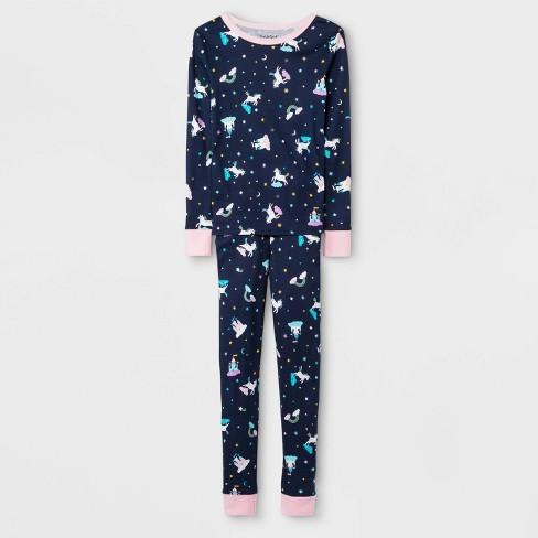 Girls' Pajama Set - Cat & Jack™ Blue - image 1 of 1