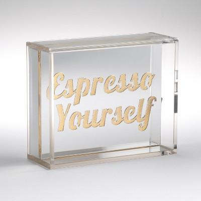 Espresso Yourself Mirror Light Box Silver - Room Essentials™