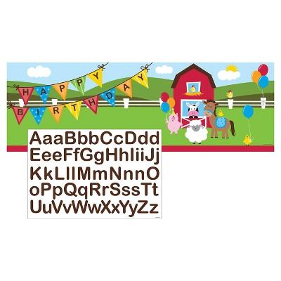 Farm Fun Giant Party Banner