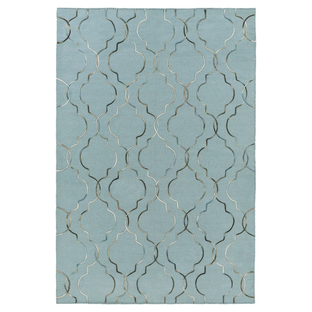 Teal (Blue) Solid Woven Accent Rug - (2'X3') - Surya