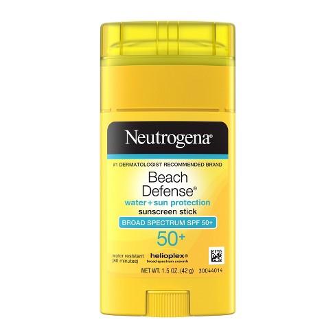 Neutrogena Beach Defense Oil-Free Body Sunscreen Stick - SPF 50+ - 1.5oz - image 1 of 4