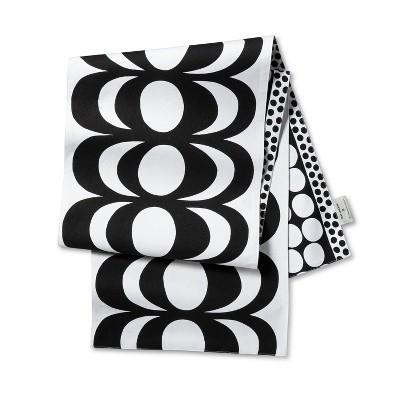 """72""""x14"""" Reversible Cotton Table Runner Black/White - Marimekko for Target"""