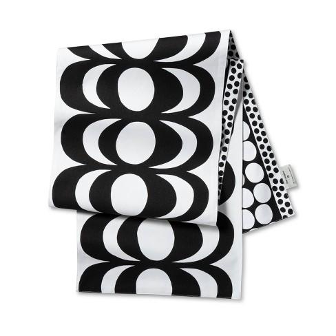 """72""""x14"""" Reversible Cotton Table Runner Black/White - Marimekko for Target - image 1 of 2"""