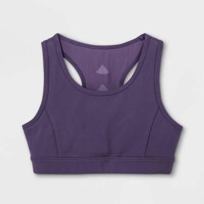 Girls' Microfiber Cutout Sports Bra - All in Motion™ Purple
