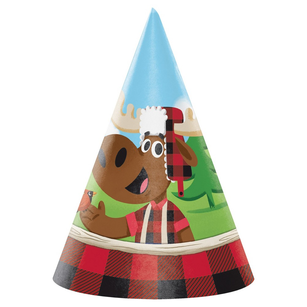 8ct Lum-Bear Jack Party Hats
