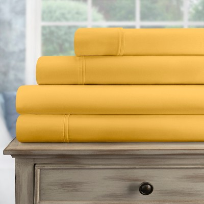 300-Thread Count Cotton Deep Pocket Sheet Set - Blue Nile Mills