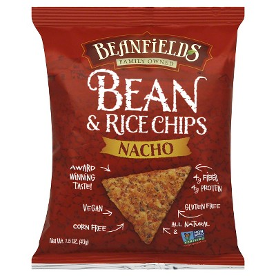 Beanfields Nacho Bean and Rice Chips 1.5oz 24 pack