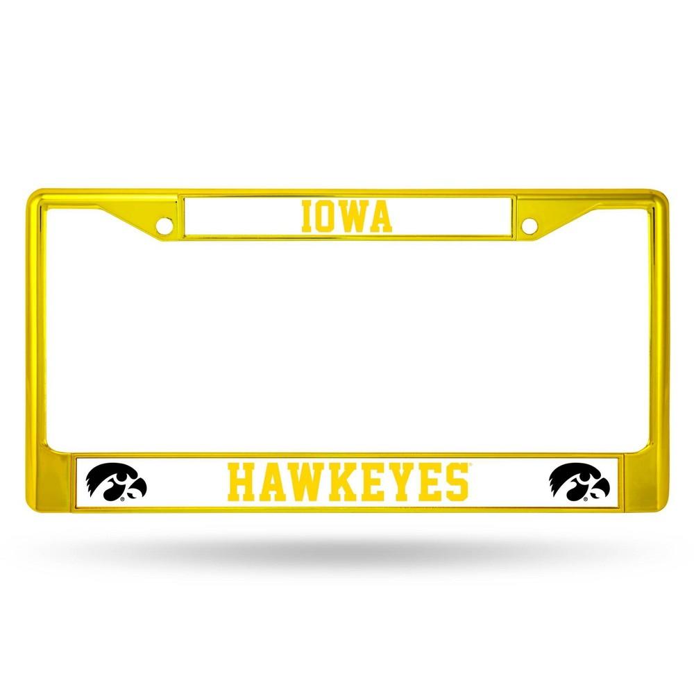 Ncaa Iowa Hawkeyes Colored Chrome Frame