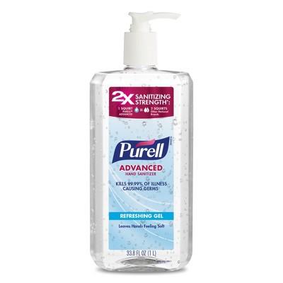 Purell Advanced Hand Sanitizer Refreshing Gel Pump Bottle - 33.8 fl oz