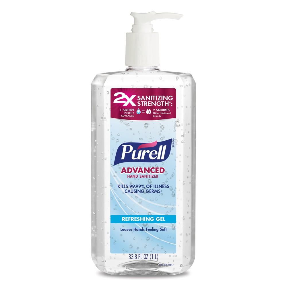 Image of Purell Advanced Hand Sanitizer Refreshing Gel Pump Bottle - 33.8 fl oz