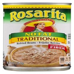 Rosarita Refried Beans, Traditional, No Fat, 16 oz