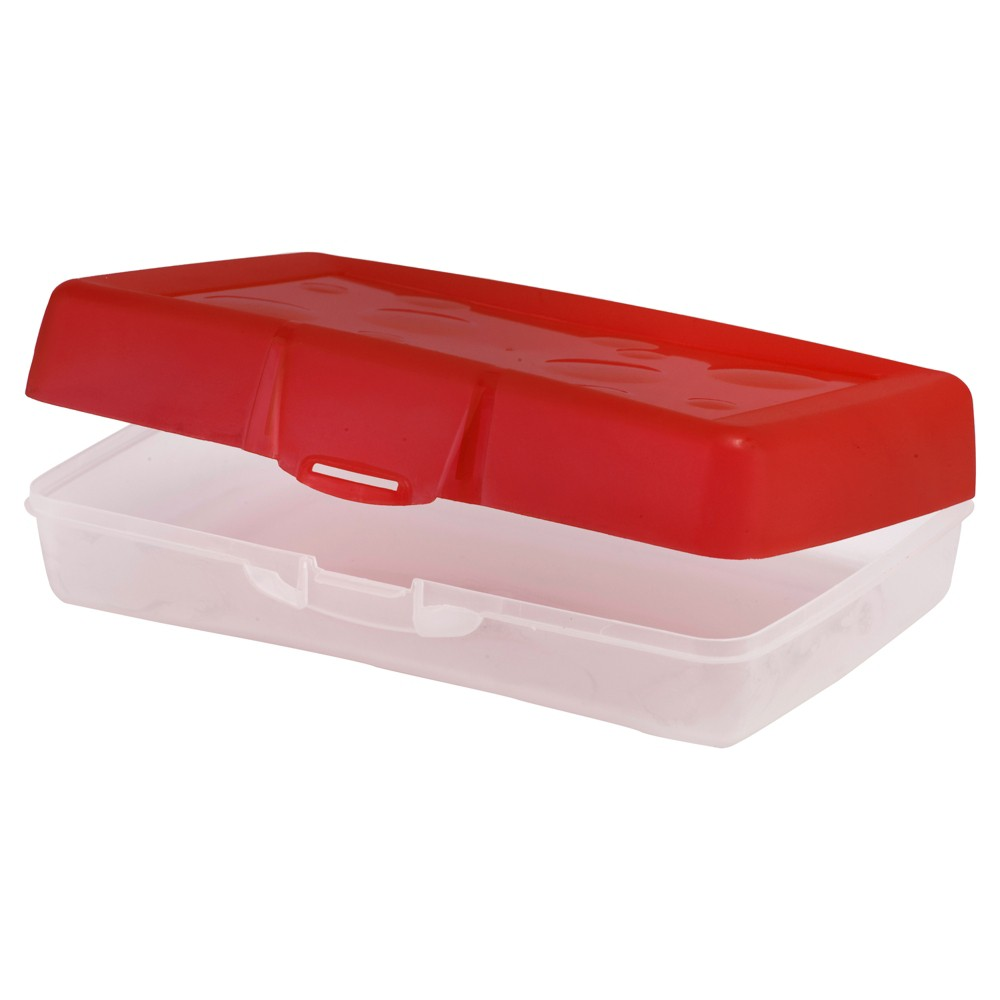 Image of Pencil Case Red Storex, pencil cases