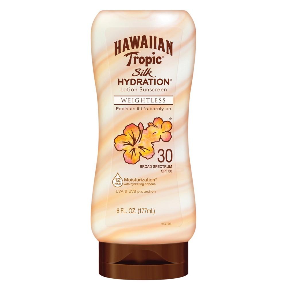 Image of Hawaiian Tropic Silk Hydration Weightless Sunscreen Lotion - SPF 30 - 6oz