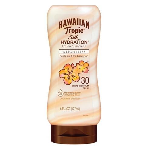 Hawaiian Tropic Silk Hydration Weightless Sunscreen Lotion - SPF 30 - 6oz - image 1 of 3